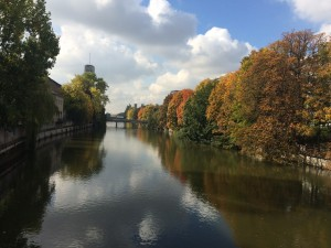 On the way to Munich, we saw the Isar River