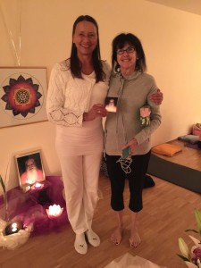 Heike Farkas and Patti Anderson at Integral Yoga in Bobingen